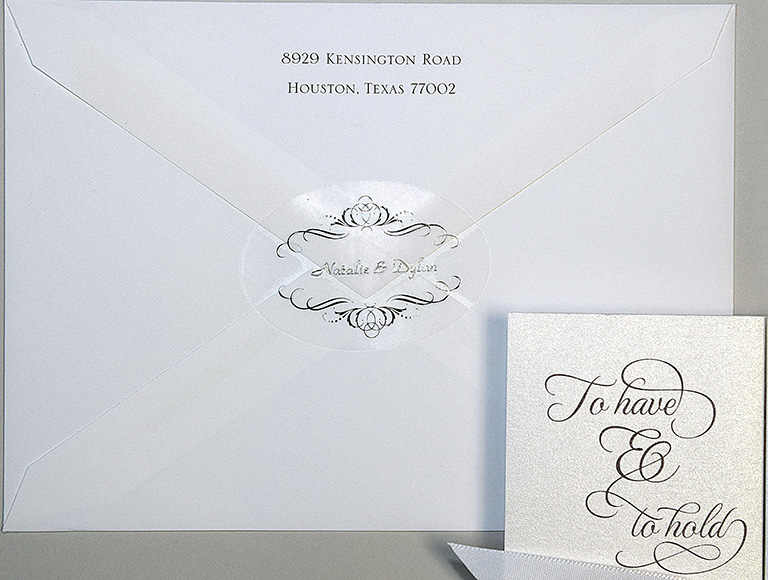 Sample wedding invitation by Invitations Plus by Linda